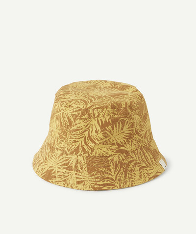 Accessories radius - REVERSIBLE MUSTARD AND NAVY BLUE BUCKET HAT