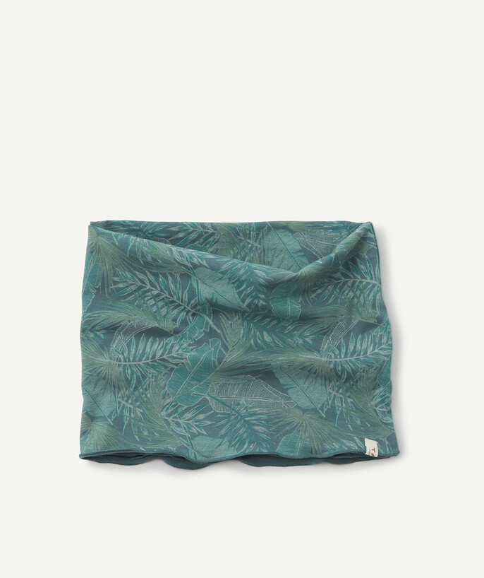 Nouvelle collection Rayon - LE SNOOD VERT IMPRIMÉ JUNGLE EN COTON BIOLOGIQUE