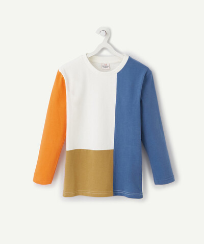 Collection ECODESIGN Rayon - LE T-SHIRT COLOR BLOCK MANCHES LONGUES EN COTON BIOLOGIQUE