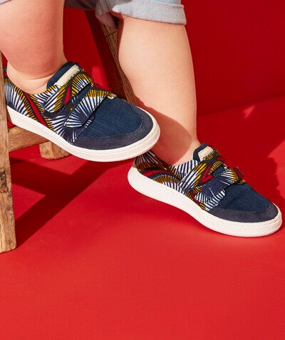Baskets Rayon - LES BASKETS BLEUES EN WAX