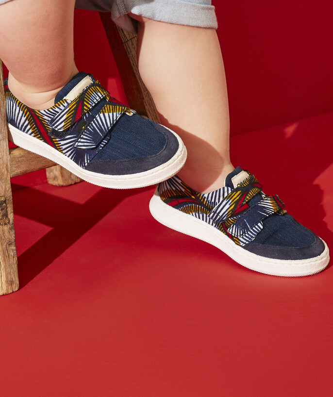 Nouvelle collection Rayon - LES BASKETS BLEUES EN WAX