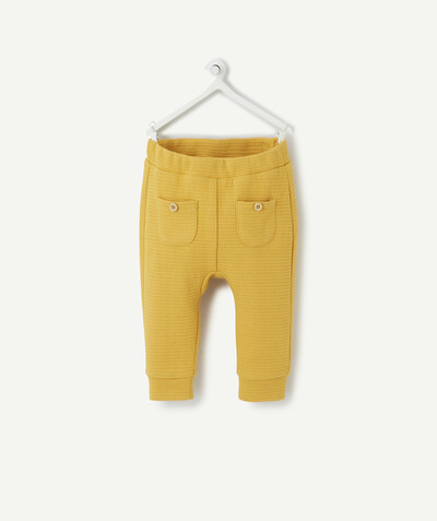 Clothing radius - YELLOW HAREM STYLE JOGGING PANTS IN COTTON