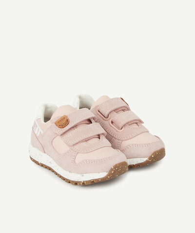 GEOX ® radius - GEOX� - PINK LOW-TOP TRAINERS WITH SELF-GRIPPING STRAPS