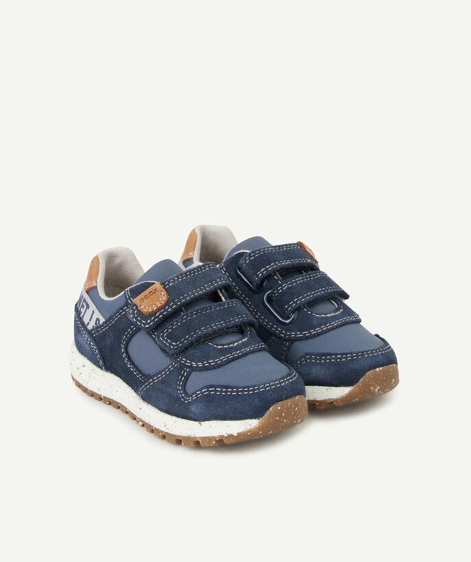 Shoes, booties radius - GEOX� - BLUE LOW-TOP TRAINERS WITH SELF-GRIPPING STRAPS