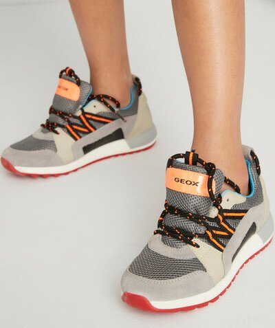 GEOX ® radius - GEOX® - GREY TRAINERS WITH COLOURFUL DETAILS AND LACES