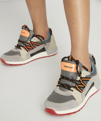 Trainers radius - GEOX® - GREY TRAINERS WITH COLOURFUL DETAILS AND LACES