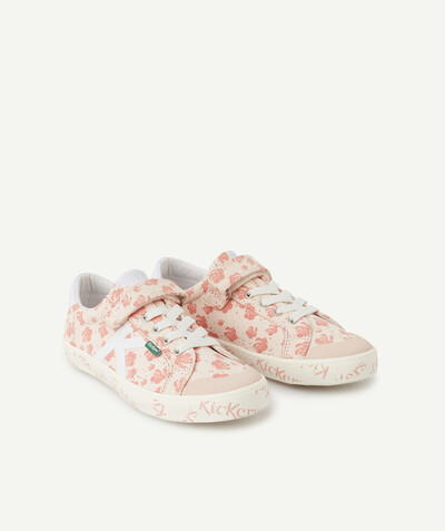 Chaussures, chaussons Rayon - KICKERS ® -LES BASKETS ROSES FLEURIES À LACETS