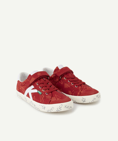 Trainers radius - KICKERS� - RED LACE-UP TRAINERS