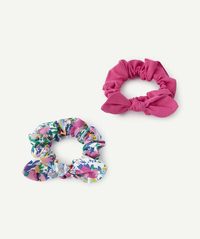 Spring looks ideas radius - SET OF TWO PLAIN AND PRINTED HAIR SCRUNCHIES