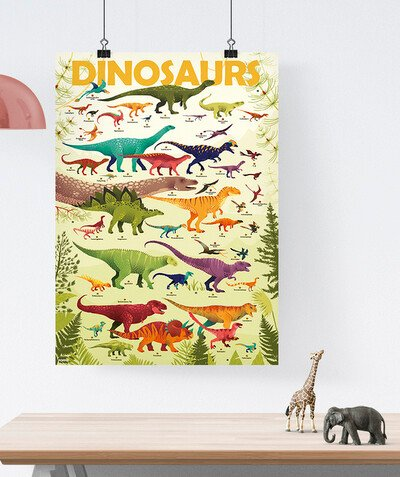 Toute la collection Rayon - POPPIK® - LE POSTER DINO AVEC 32 STICKERS REPOSITIONNABLES