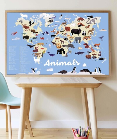 Nos marques Eco-responsables Rayon - POPPIK® - LE POSTER ANIMAUX AVEC 67 STICKERS REPOSITIONNABLES