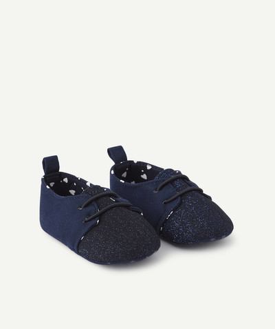 Nouvelle collection Rayon - LES CHAUSSONS BLEU MARINE BRILLANTS