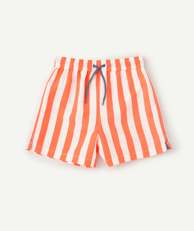 Swimwear family - FLUO STRIPED SWIMMING SHORTS