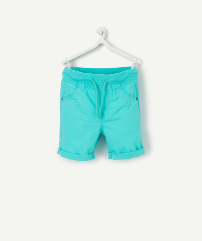 All collection radius - TURQUOISE COTTON BERMUDA SHORTS