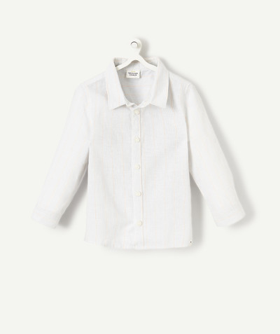 All collection radius - FINELY STRIPED COTTON SHIRT