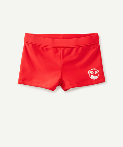 All collection radius - RED FLOCKED SWIMMING TRUNKS