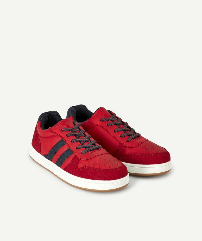 Shoes, booties radius - RED LACE-UP TRAINERS