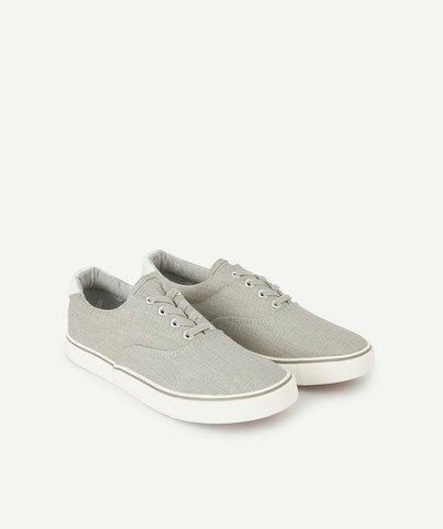 Outlet radius - GREY CANVAS SNEAKERS