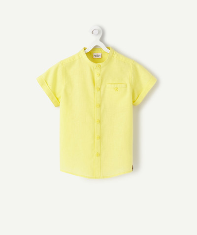 Outlet radius - YELLOW LINEN SHIRT