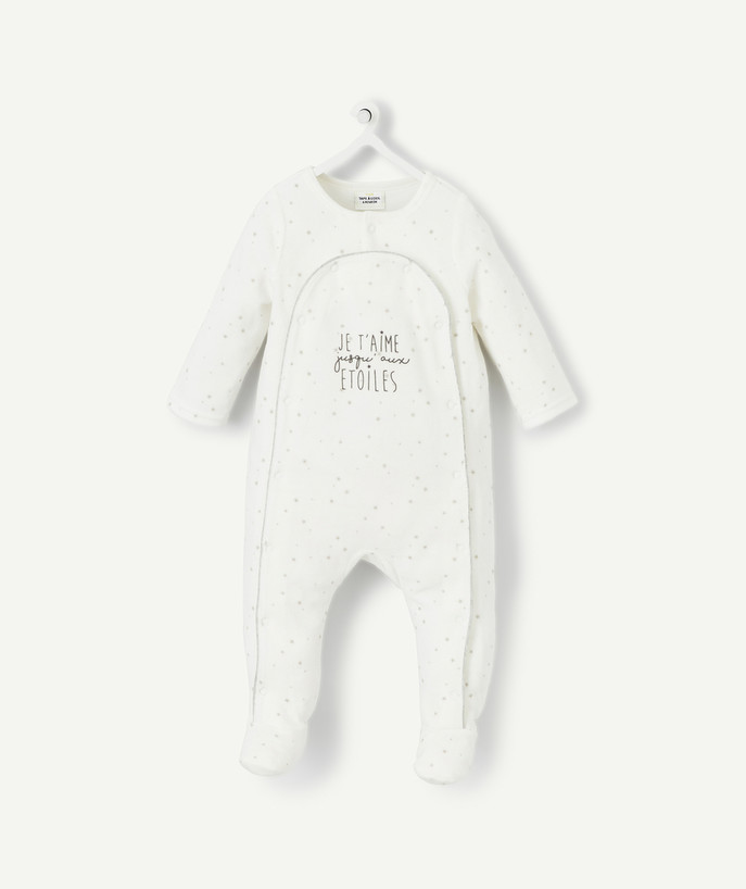Essentials : 50% off 2nd item* family - DELIGHTFULLY SOFT SLEEP SUIT WITH PRINTED STARS