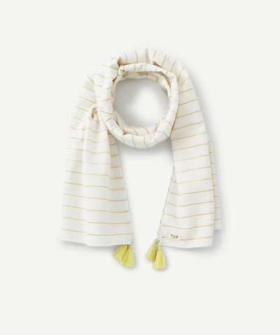 All Collection radius - STRIPED SCARF WITH YELLOW TASSELS