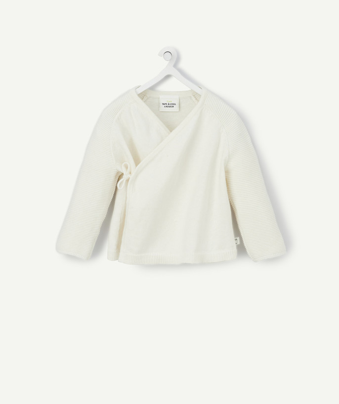 Clothing radius - CREAM WRAP-AROUND JACKET