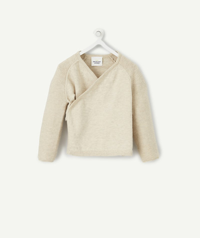 Clothing radius - BEIGE CROSS-OVER JACKET