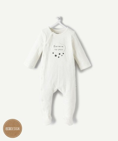 My first wardrobe radius - LINED ORGANIC COTTON SLEEPSUIT
