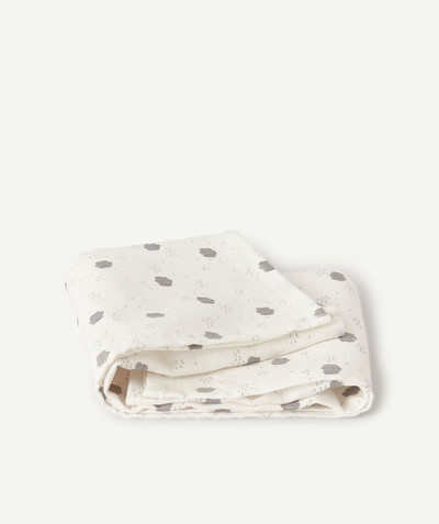 Essentials : 50% off 2nd item* family - LARGE PRINTED COTTON SHAWL