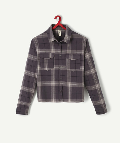 All collection Sub radius in - TAUPE CHECKED SHIRT