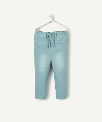 All collection radius - HAREM PANTS IN TURQUOISE COTTON FABRIC