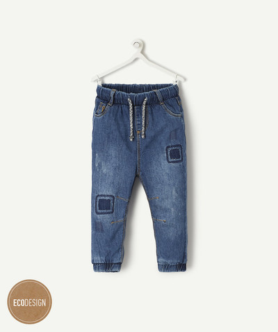 All collection radius - CARROT-SHAPED JEANS WITH AN ELASTICATED WAIST