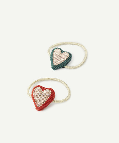 Baby-girl radius - SET OF TWO HEART ELASTICS