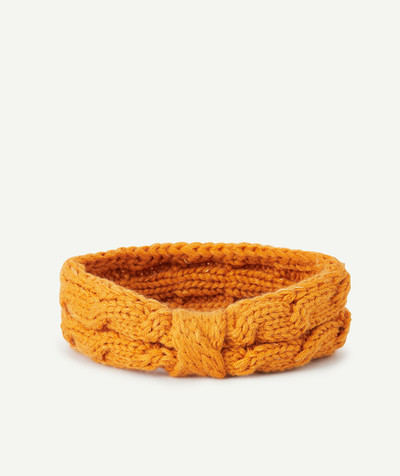 Baby-girl radius - MUSTARD KNIT HAIRBAND