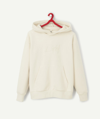 Sweatshirt radius - CREAM FLEECE SWEATSHIRT