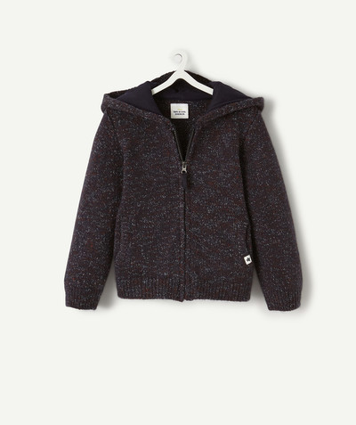 All collection radius - KNITTED JACKET WITH DIFFERENT COLOURED THREADS