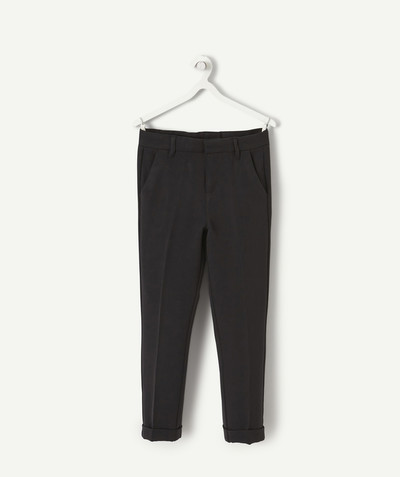 Trousers - Jogging pants radius - TROUSER IN BLACK WOVEN FABRIC