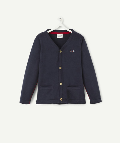 All collection radius - NAVY BLUE COTTON JACKET