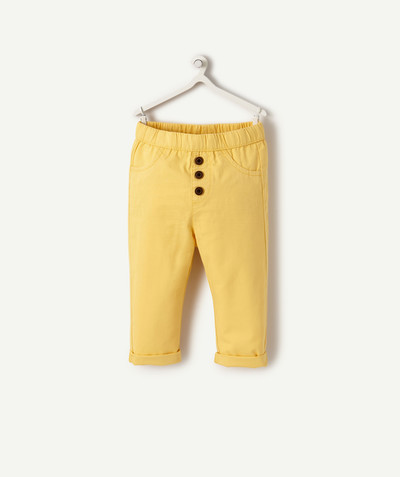 All collection radius - HAREM PANTS IN YELLOW COTTON