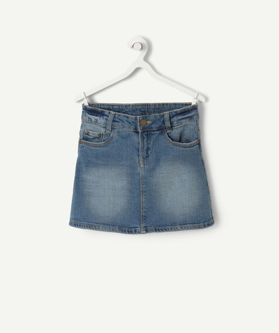 Basics radius - STRAIGHT SKIRT IN STONEWASHED DENIM