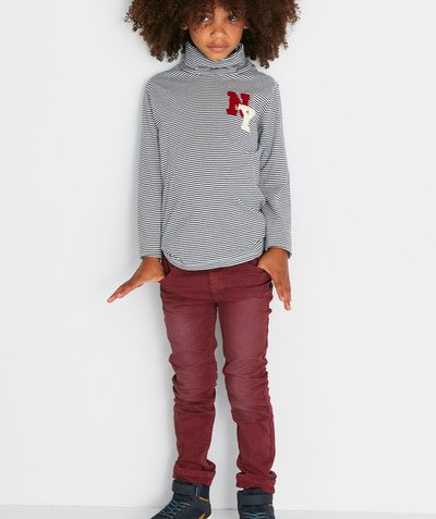 Toute la collection Rayon - LE PANTALON SKINNY EN TOILE DENIM BORDEAUX
