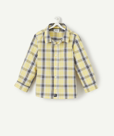 Shirt and polo radius - YELLOW CHECKED SHIRT