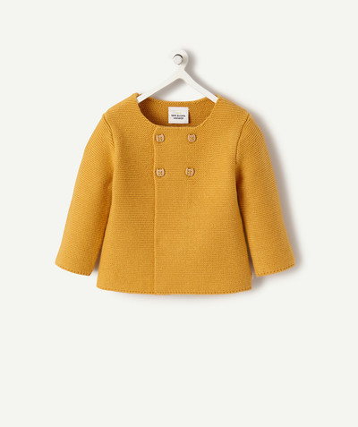 All collection radius - MUSTARD WOOL JACKET