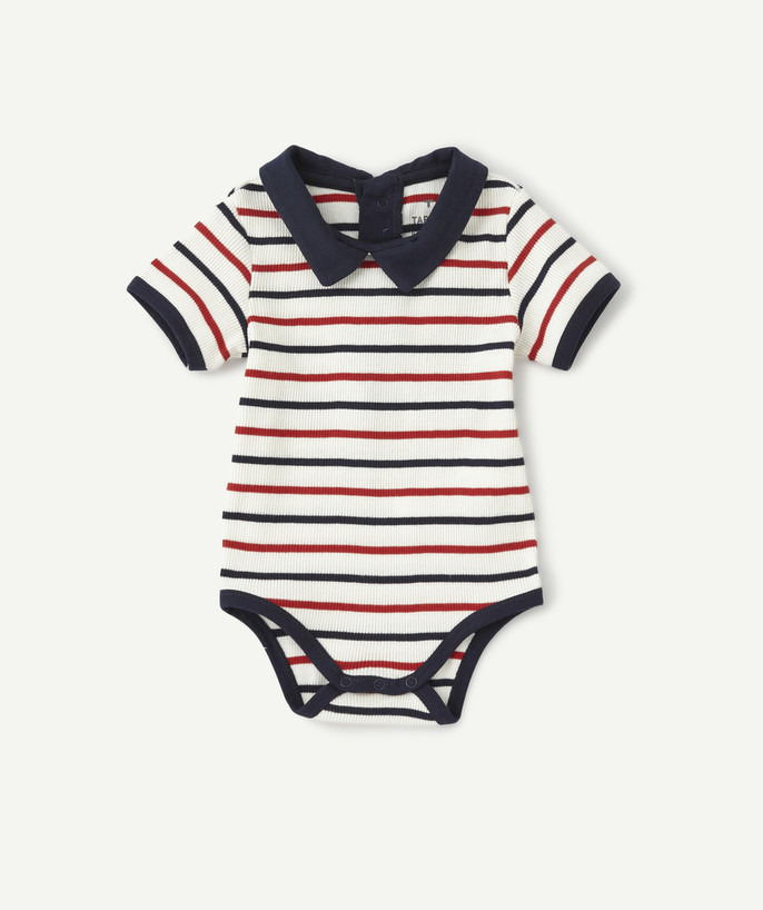 Newborn Boy radius - STRIPED BODY IN ORGANIC COTTON