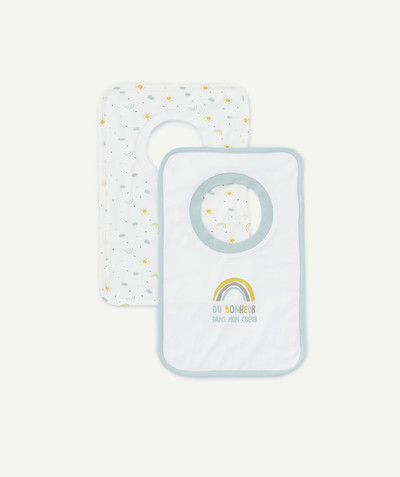 Essentials : 50% off 2nd item* family - PACK OF TWO LARGE PRINTED BIBS