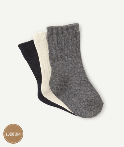 Accessories radius - PACK OF THREE PAIRS OF DARK SOCKS