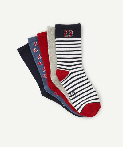 Accessories radius - PACK OF FIVE PAIRS OF STRIPED OR PLAIN SOCKS