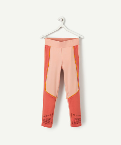 Outlet radius - TWO-TONE PINK SPORTS LEGGINGS