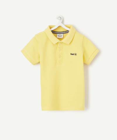Shirt and polo radius - SHORT SLEEVED YELLOW POLO SHIRT