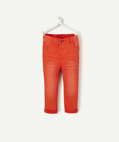 All collection radius - ORANGE CANVAS TROUSERS